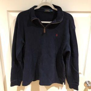 EUC men's quarter zip polo sweater